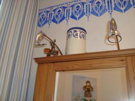 Auch Im Badezimmer Darf Es Schön Sein. Wandgestaltung Mit Ölfarben.